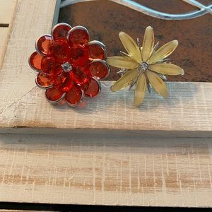 Flower ring pair